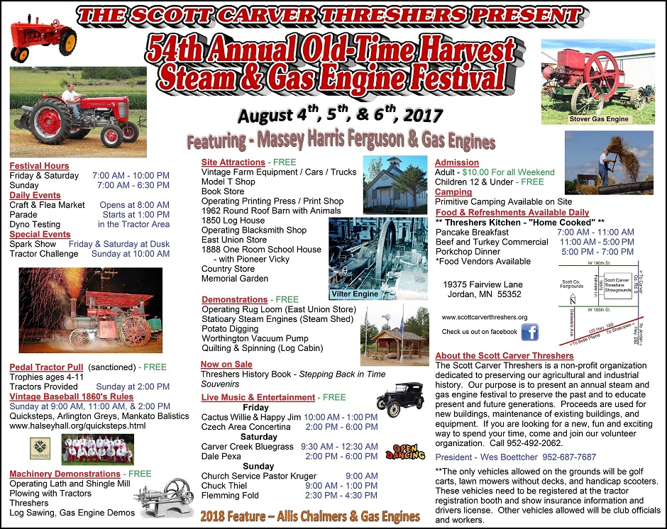 55th Annual Harvest Festival - August 3-5, 2018